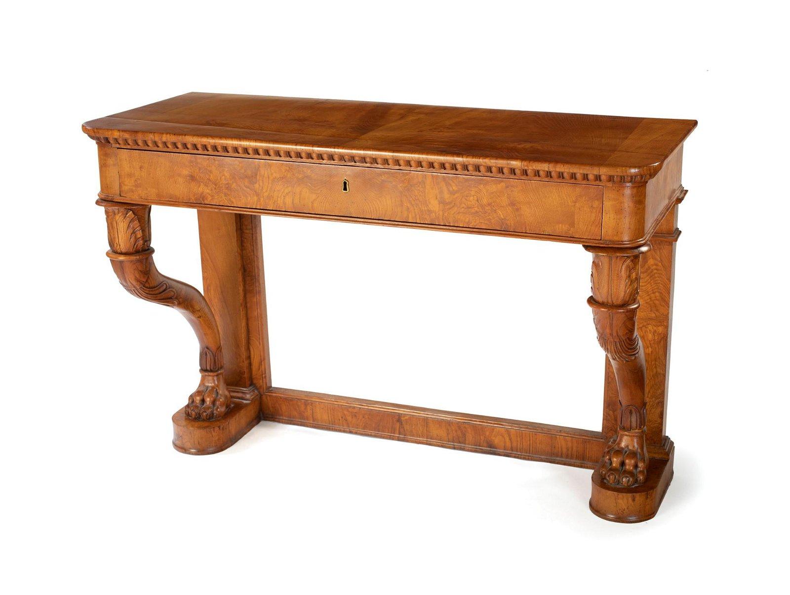 Elm wood console