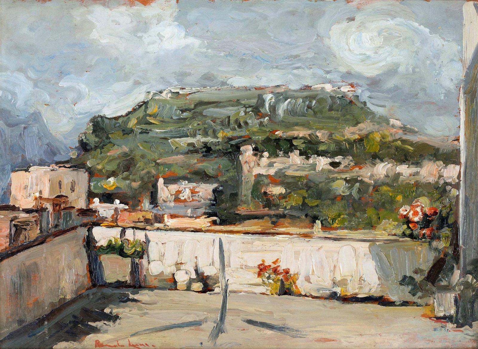 Romolo Leone (Napoli 1890-Napoli 1964)  Terrace