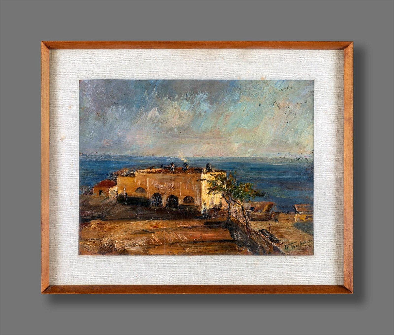 Amerigo Tamburrini (Napoli  1901-Napoli 1966)  View of