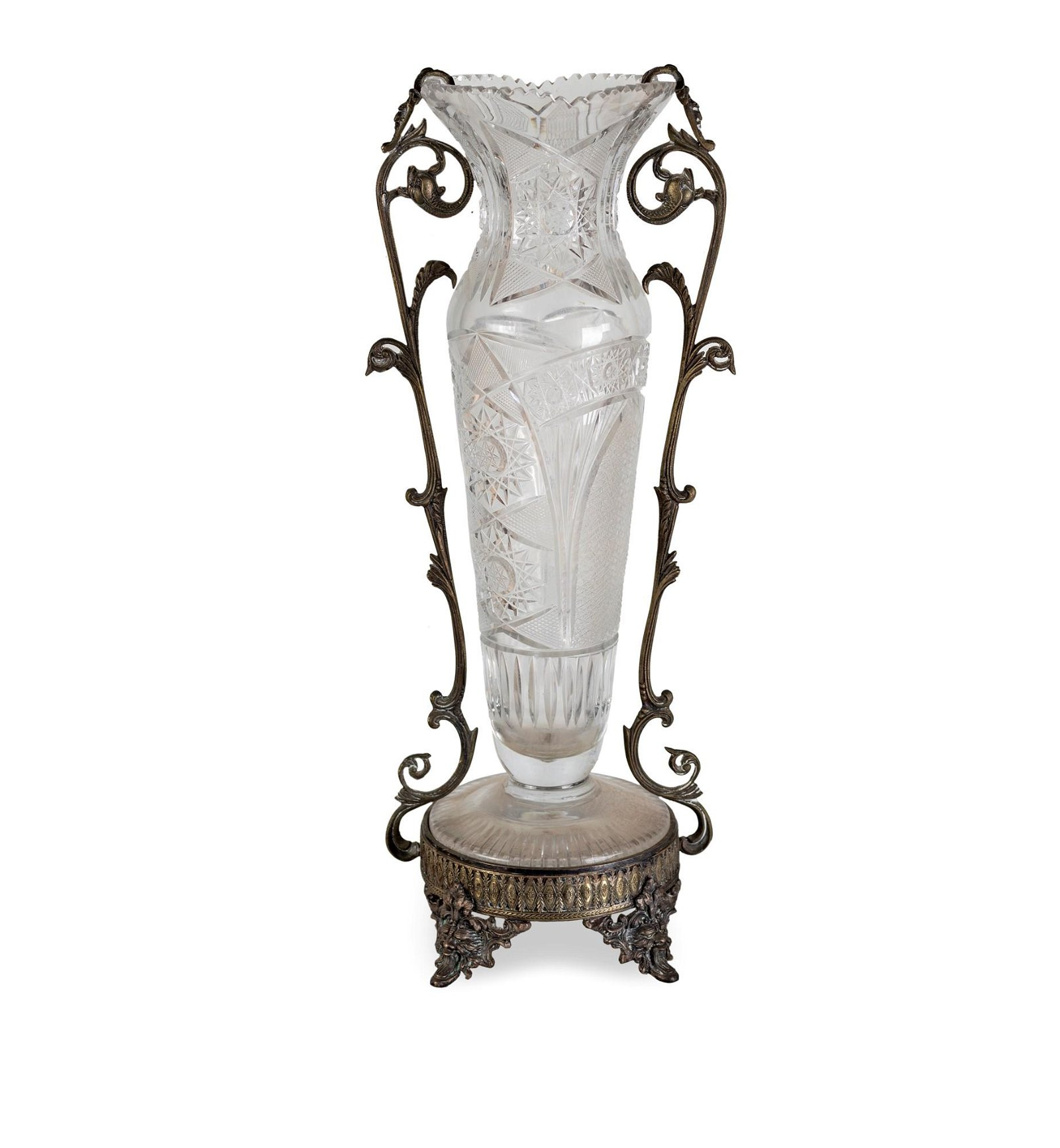 Crystal vase from the beginning of 20th century