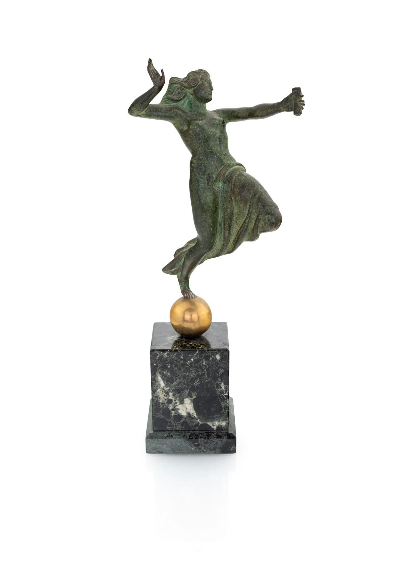Bronze sculpture of a dancing maenad from 20th century