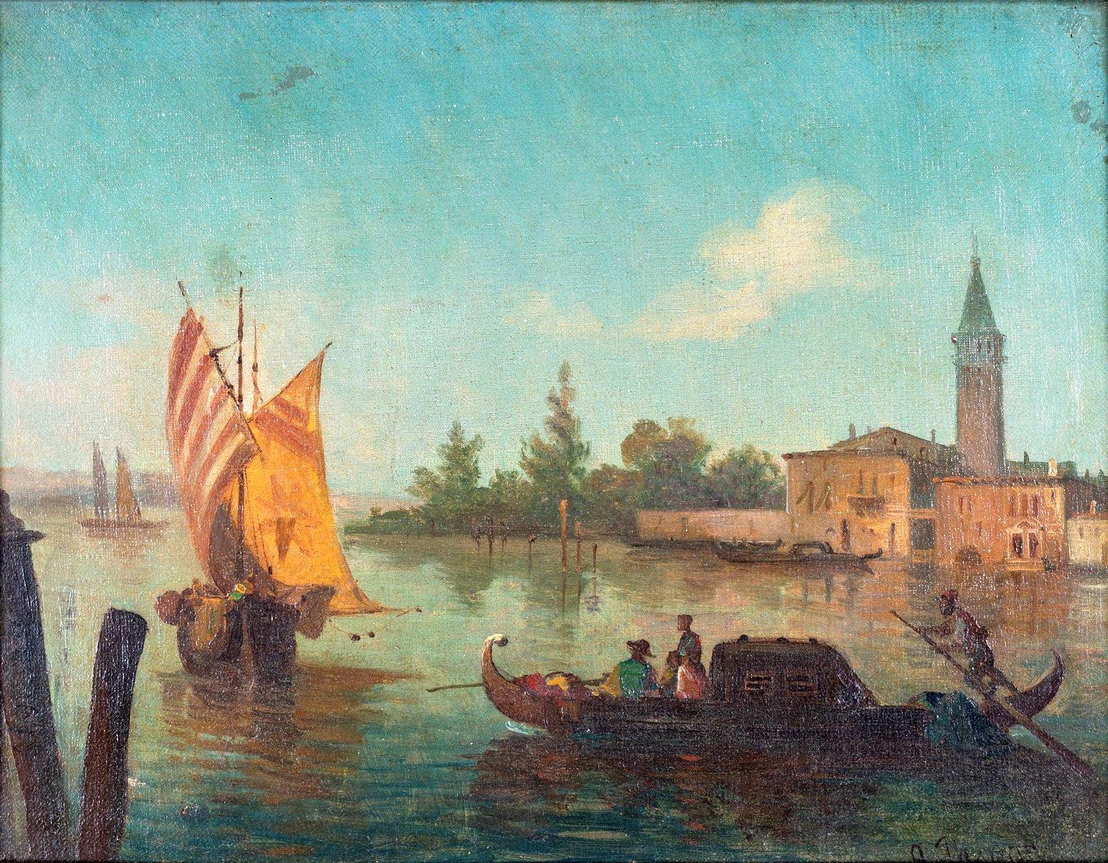 Pittore della fine del XIX secolo   View of Venice