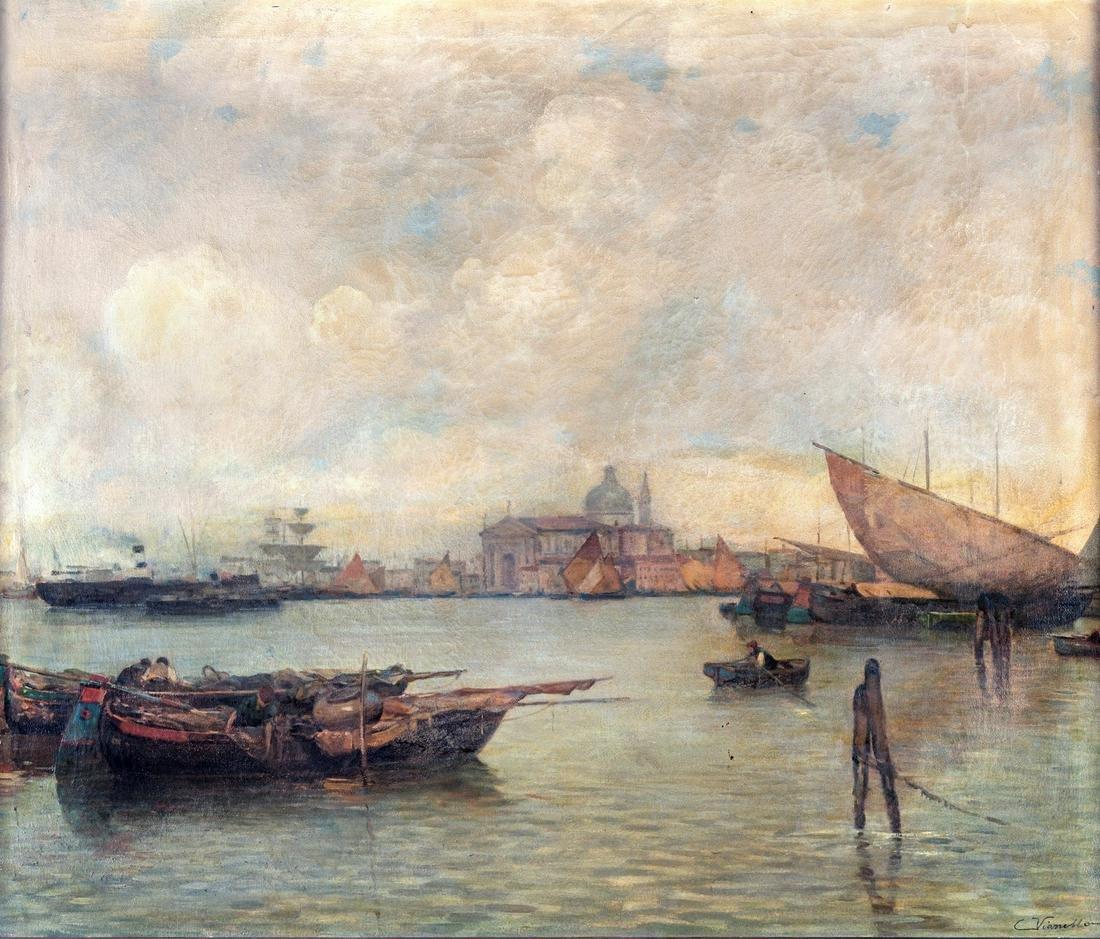 Cesare Vianello (Venezia 1862-Venezia 1953)  View of