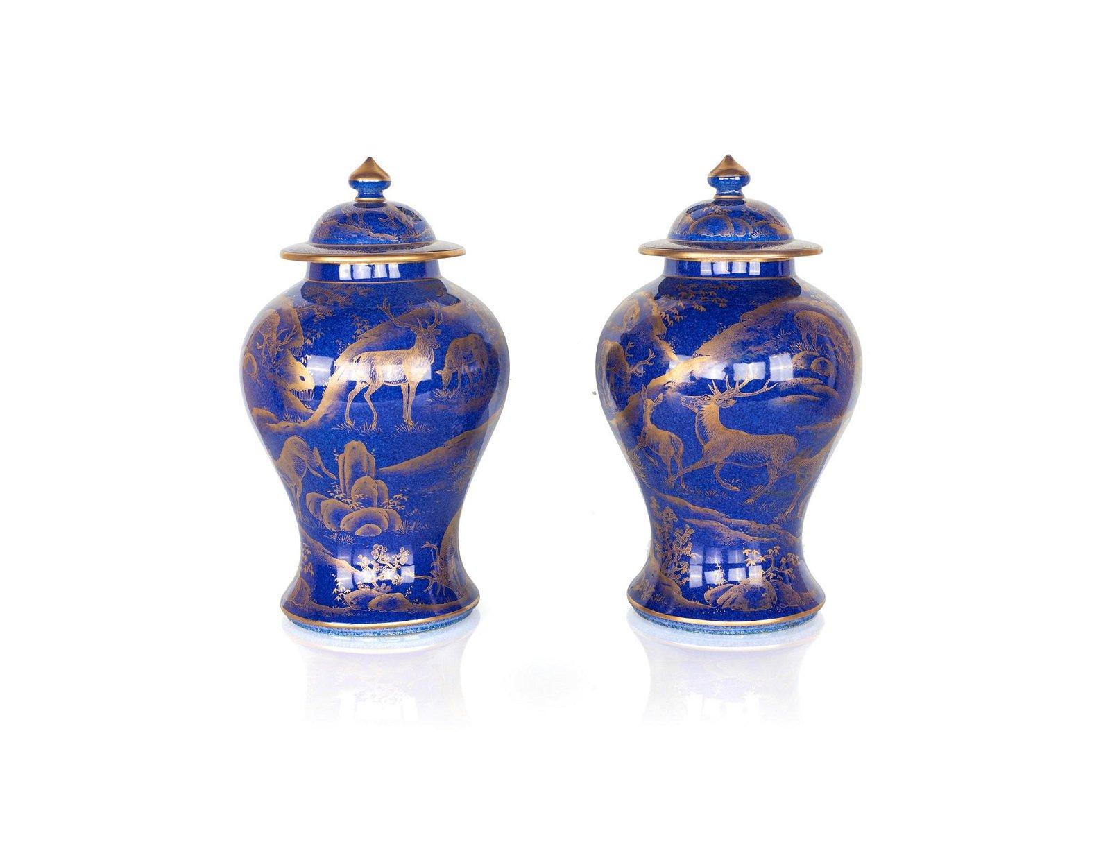 Pair of porcelain potiches