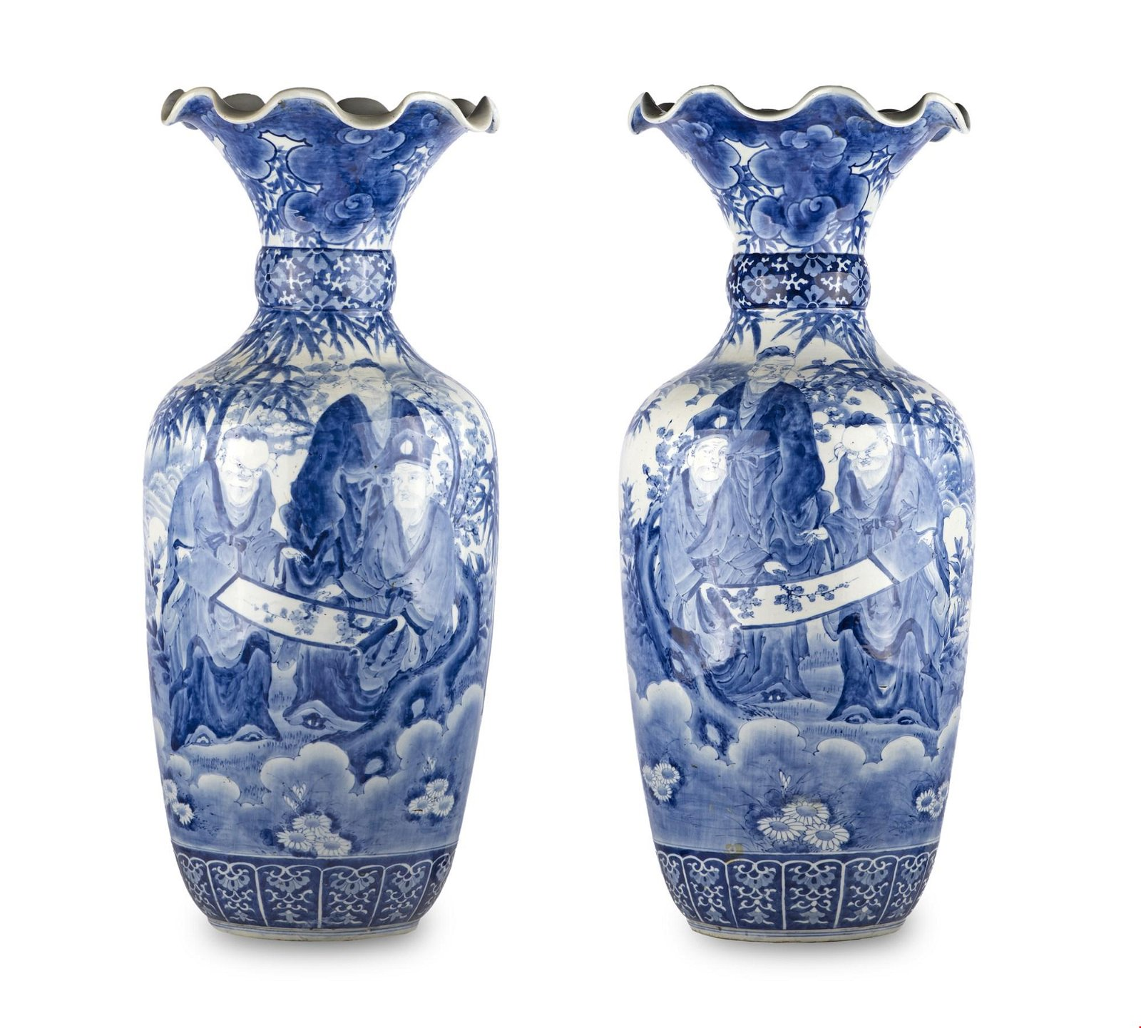 Pair of chinese vases from 19th century
