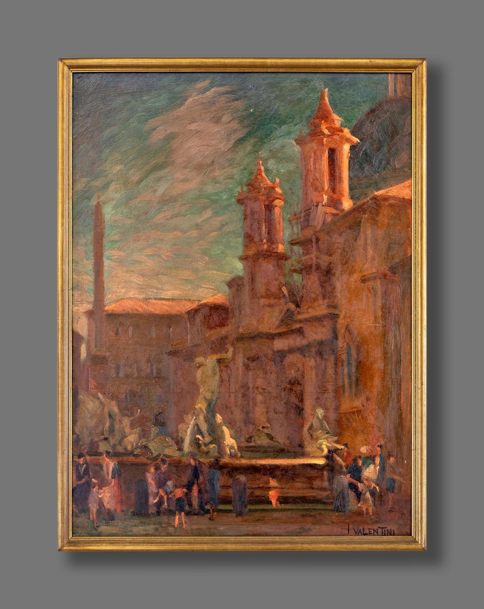 Pittore degli inizi del XX secolo   View of Piazza