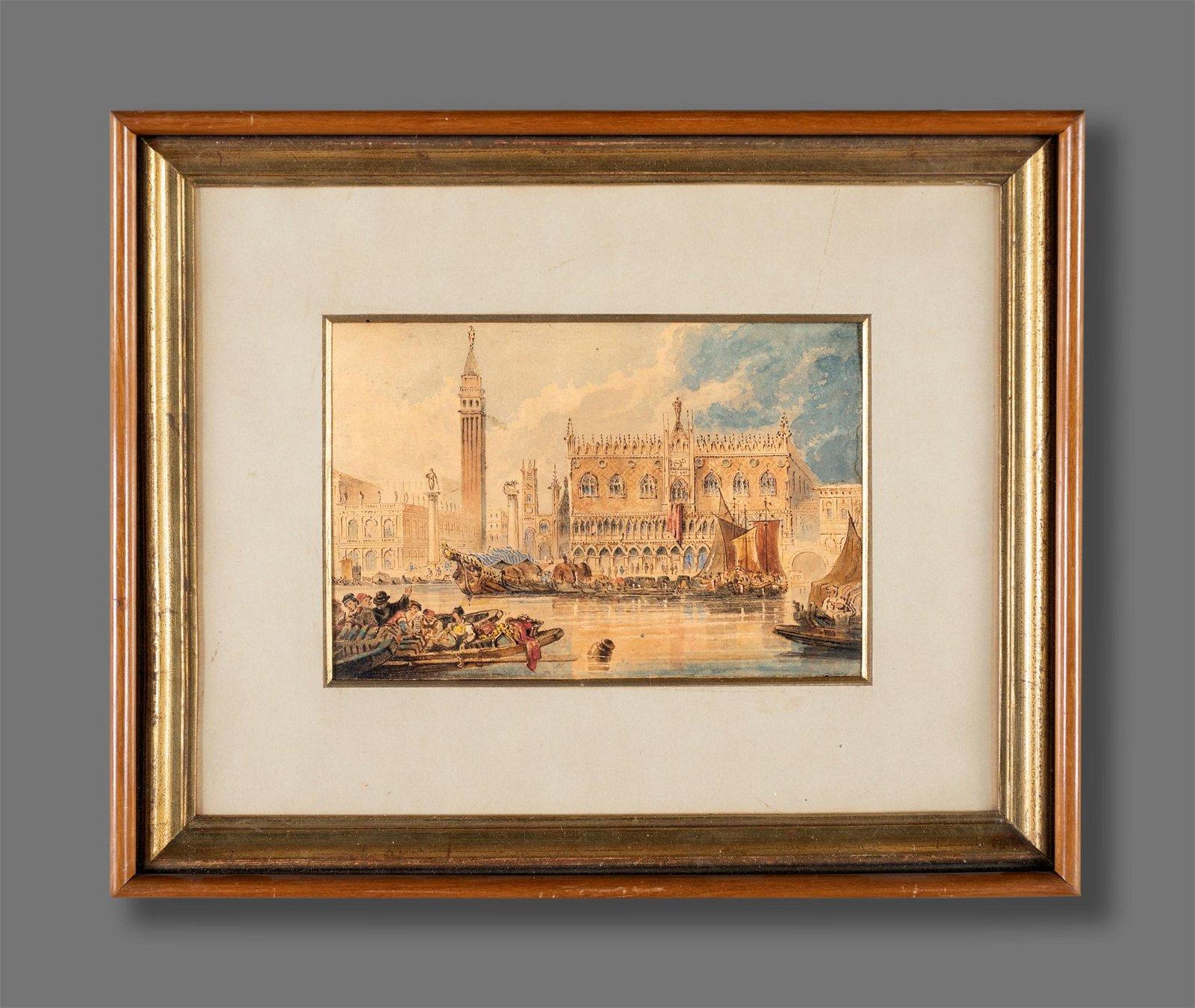 Anonimo del XIX secolo   View of Venice
