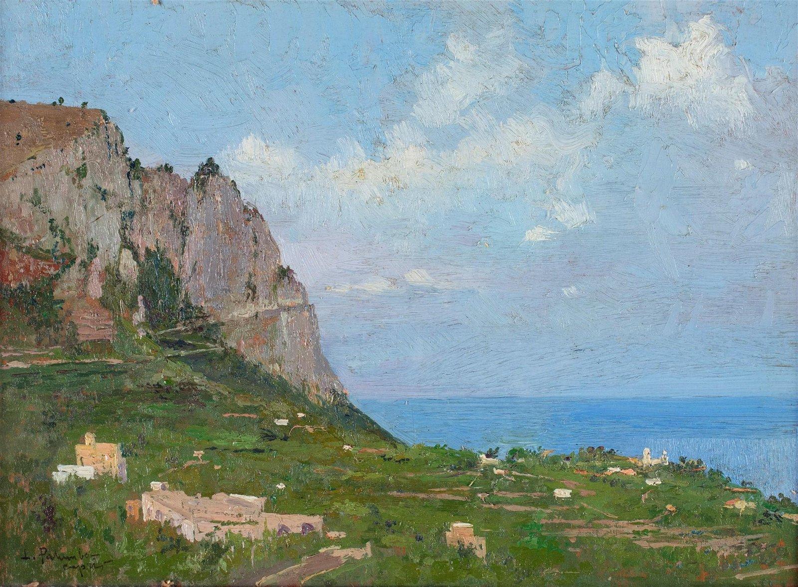 LUIGI PALUMBO (Napoli 1859-Napoli 1916)  View of Capri