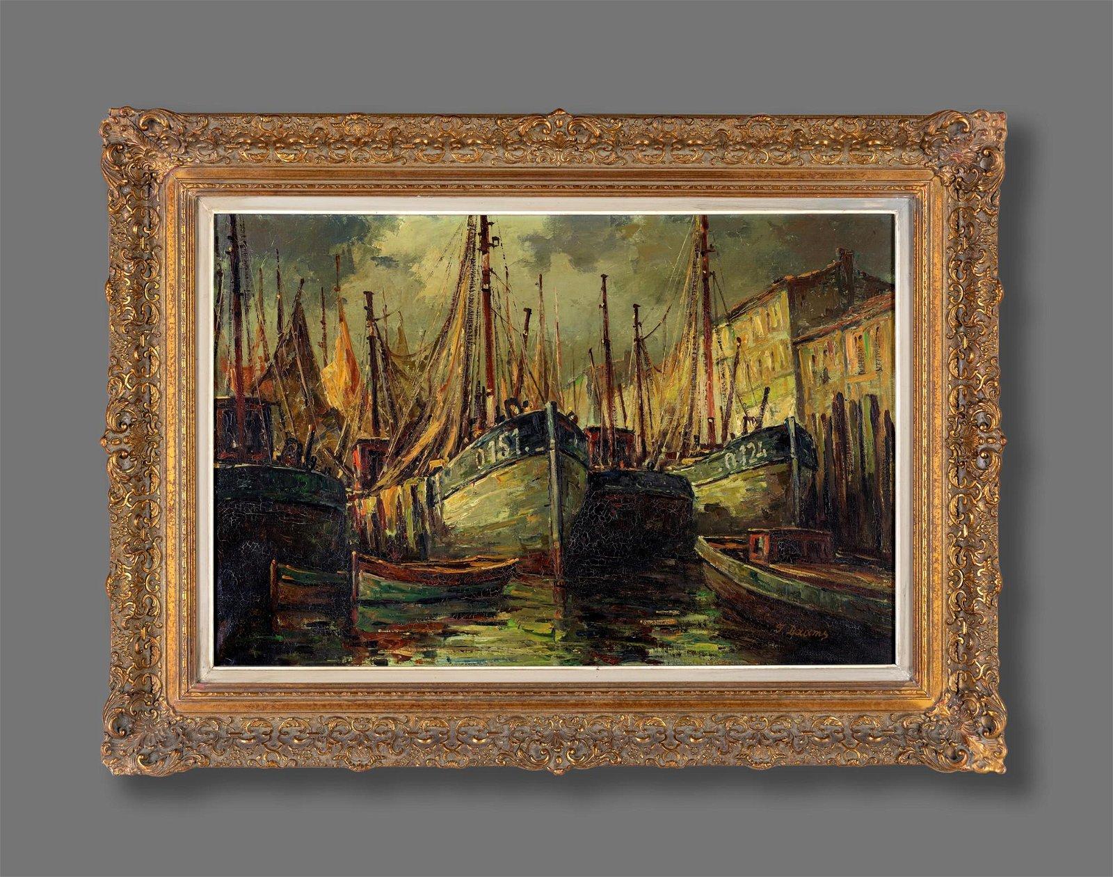 Pittore degli inizi del XX secolo   Sailing ships in