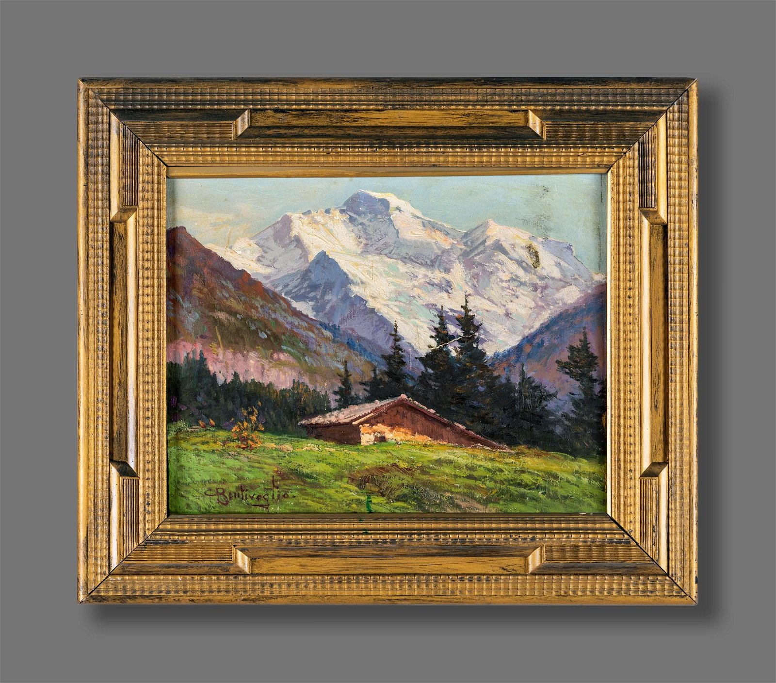 Cesare Bentivoglio (Genova 1868-Genova 1952)  Mountain