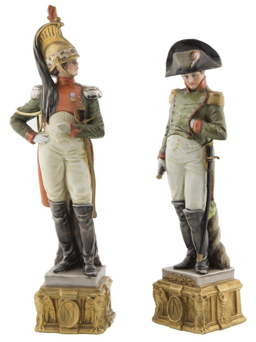 Bruno Merli | Due sculture in porcellana di Capodimonte