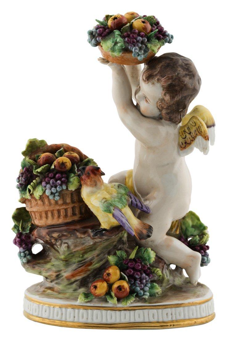 | Scultura in porcellana policroma allegoria