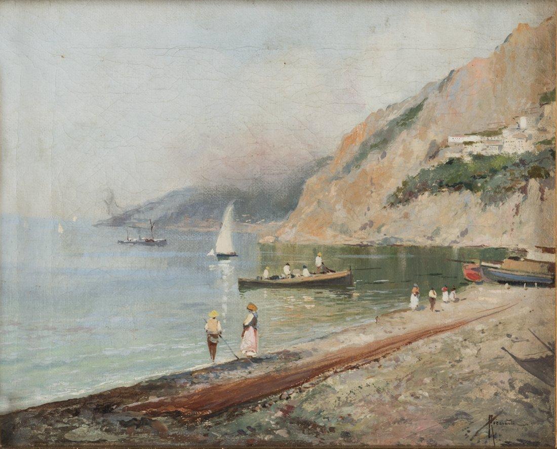 Oscar Ricciardi (Napoli 1864, Napoli 1935)   Veduta