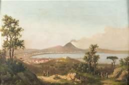 Scuola napoletana del XIX secolo | Veduta del Golfo di