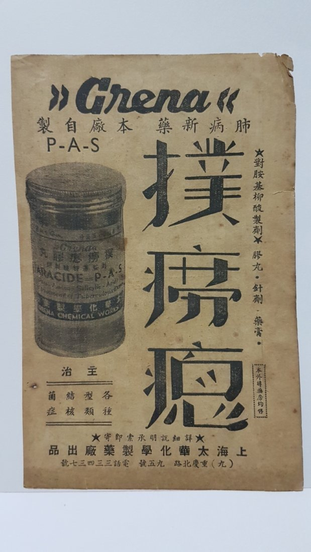 Early 20th Century Tuberculosis Medication