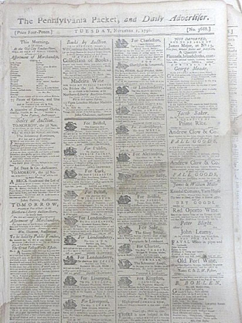 Pennsylvania Packet, & Daily Advertifer 1787-1790(4)