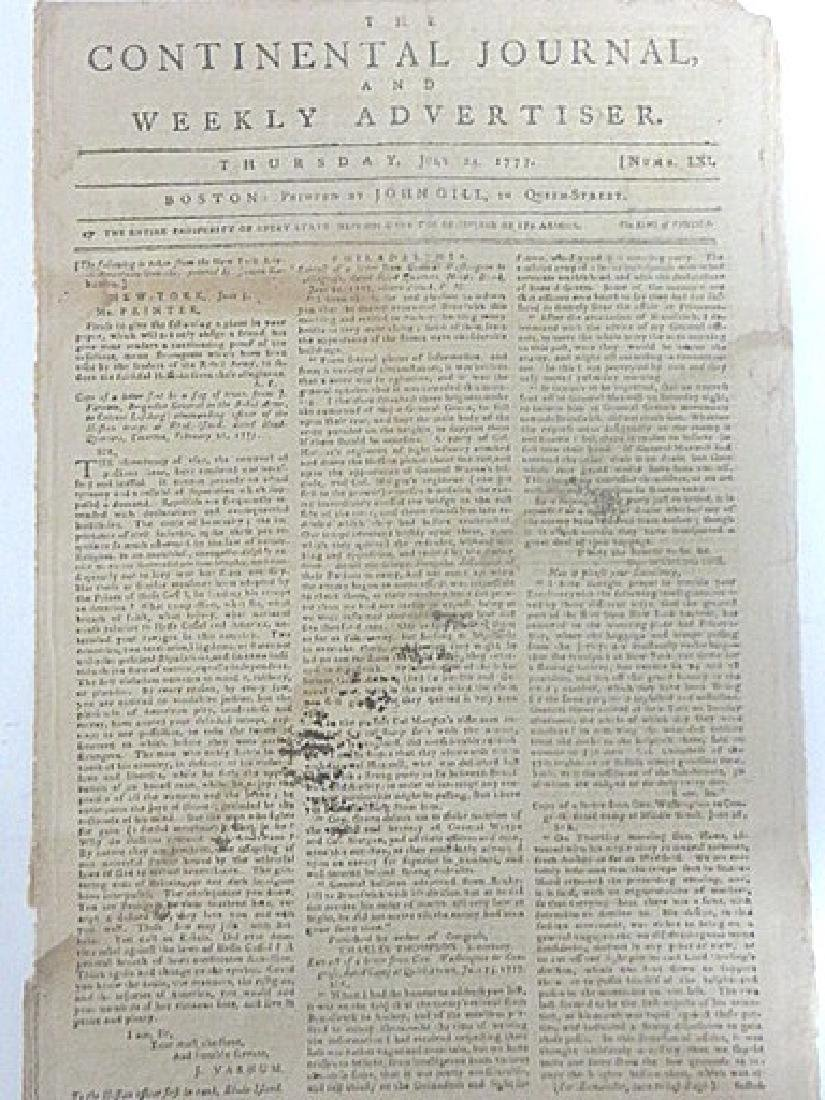 Continental Journal, and Weekly Advertiser 1777