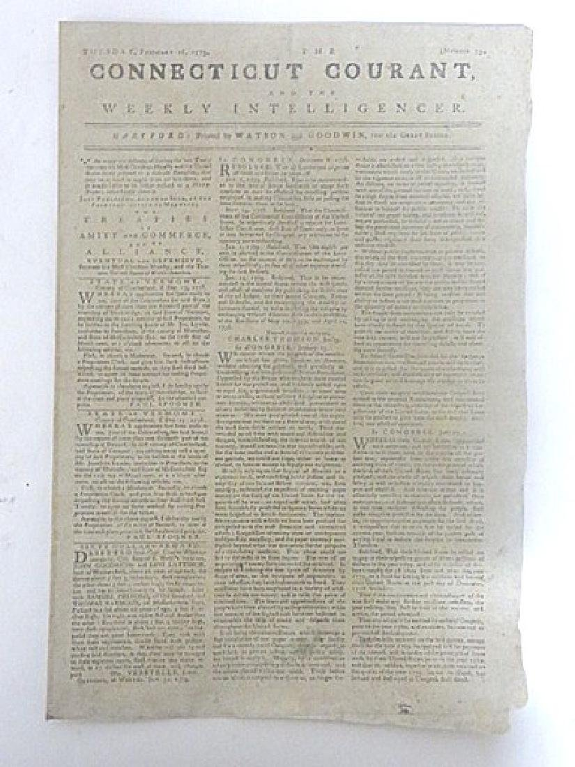 Connecticut Courant, and Weekly Intelligencer. 1779