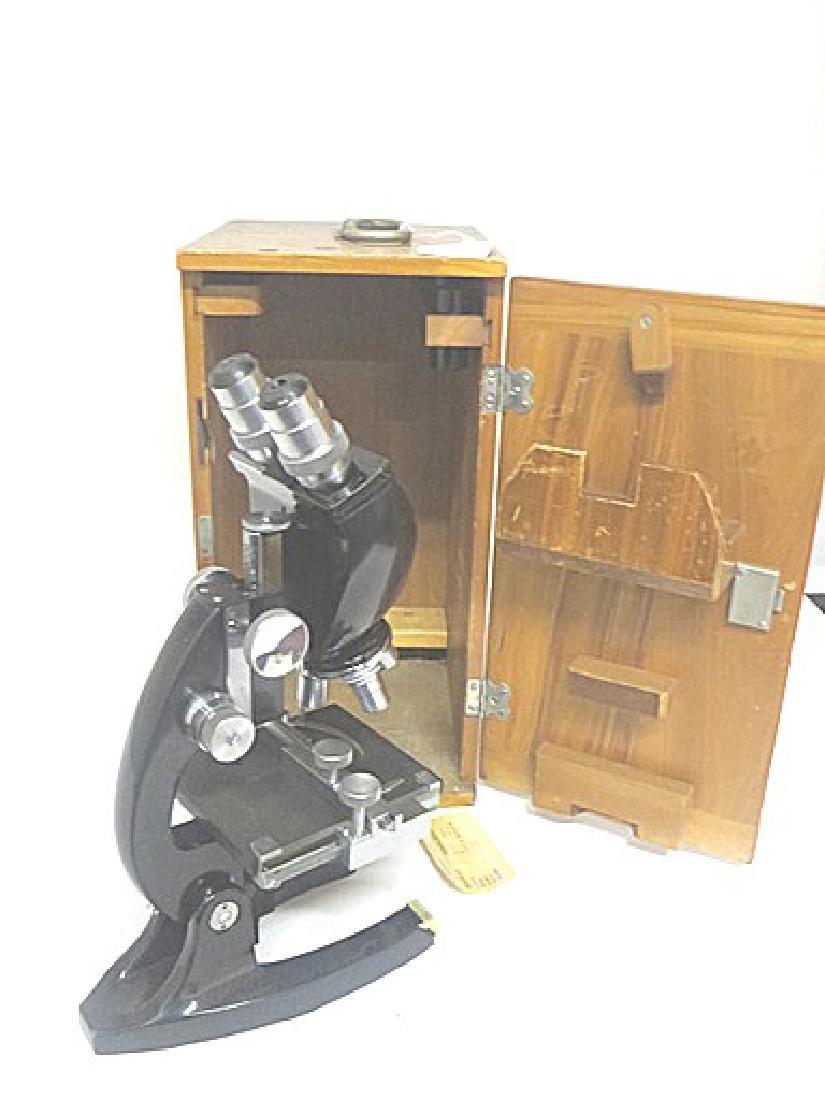 Antique Microscope in Case