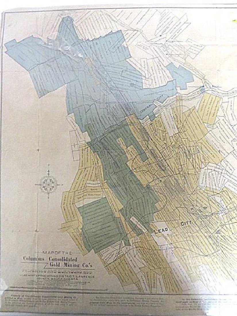 Map Columbus Consolidated Gold Mining Co.