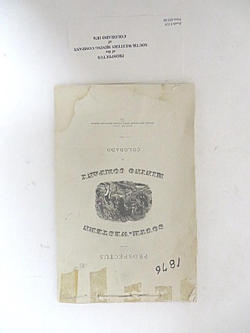 Prospectus S. W.  Mining Company of Colorado 1876