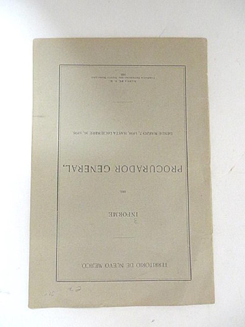 Territory of New Mexico. Booklet 1899 - 2