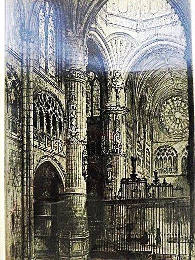 C. O. Murray. Original Engraving. Signed