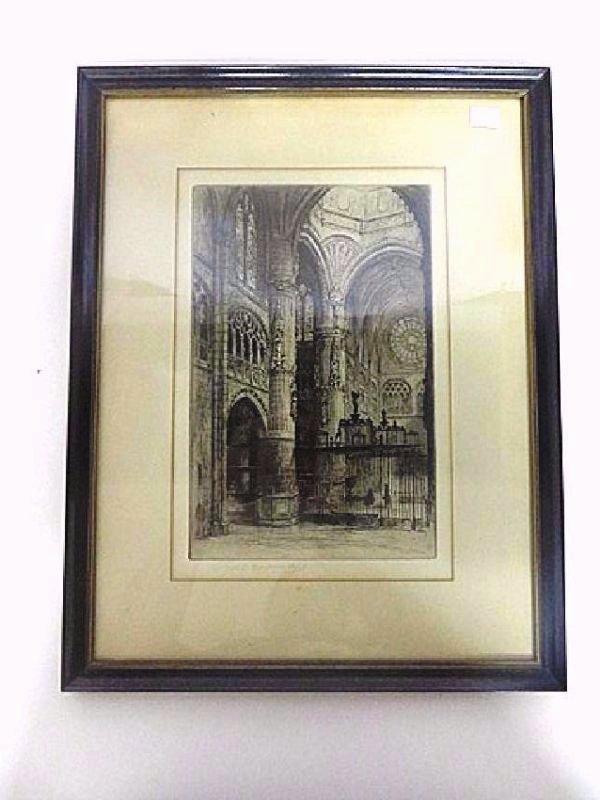 C. O. Murray. Original Engraving. Signed - 2