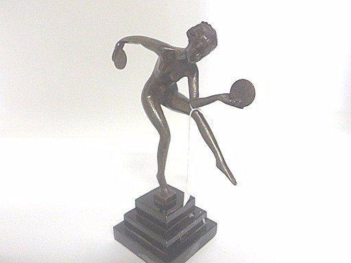 Art Deco Bronze. Dancer with Discs. - 2