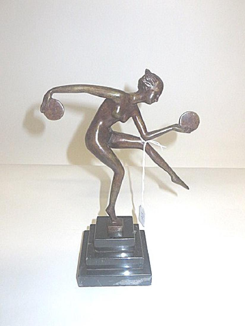 Art Deco Bronze. Dancer with Discs. - 3