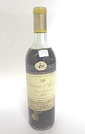 Rare Wine. Chateau d'Yquem 1959
