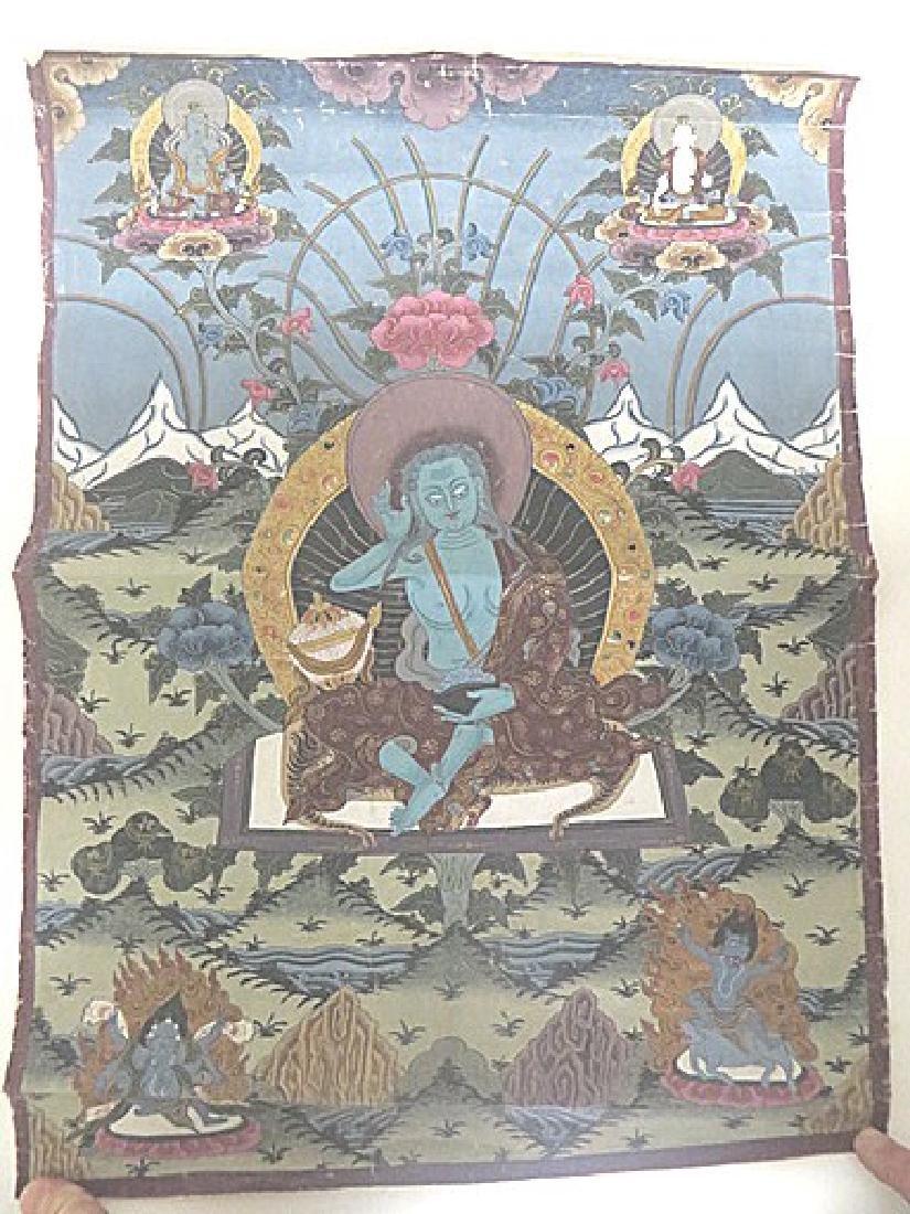 19th C. Tibetan Hand Painted Thangka