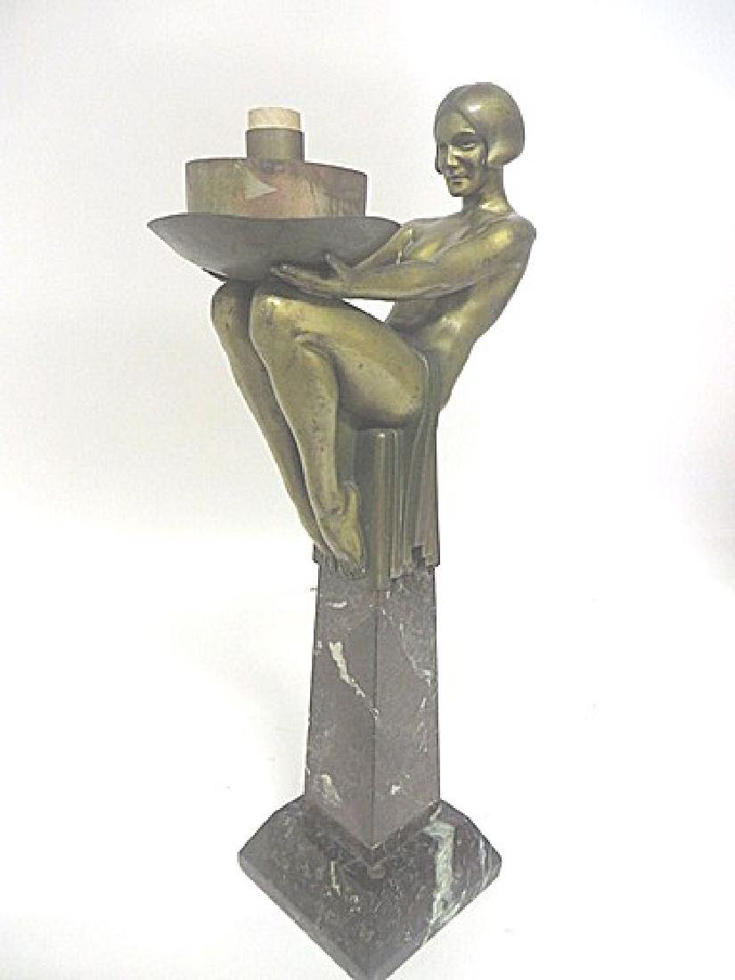 Art Deco Period Bronze Lamp