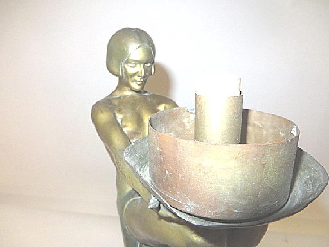 Art Deco Period Bronze Lamp - 5
