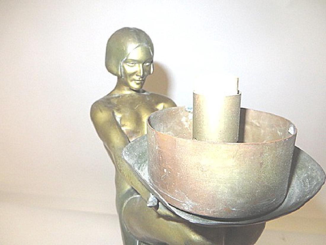 Art Deco Period Bronze Lamp - 5