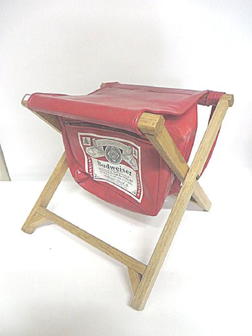 Budweiser Advertising Folding Stool - 3