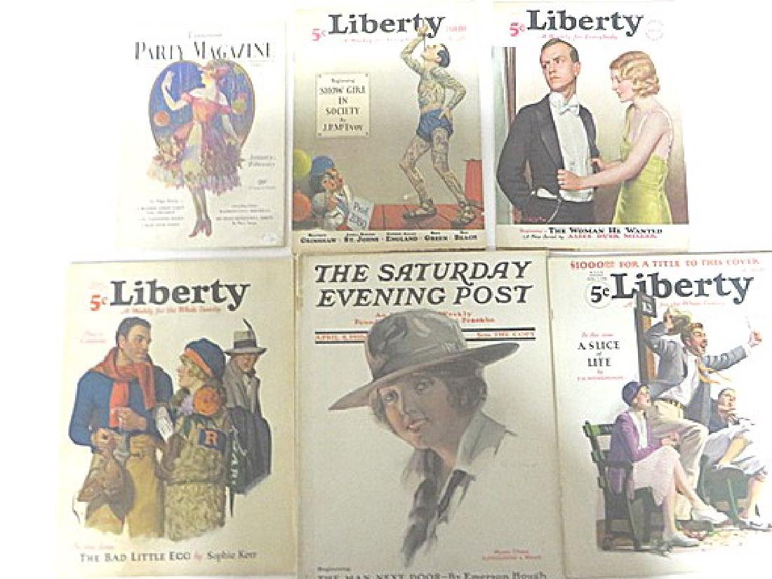 Antique Magazines Liberty & Saturday Eve.  Post