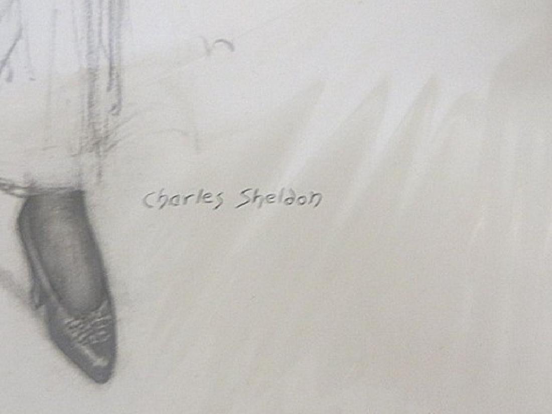 Charles Sheldon.  Original Drawing. Signed - 2