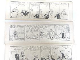 Edwina Dumm. Pen & Ink. Original Comic Strips. Sgd. (3)