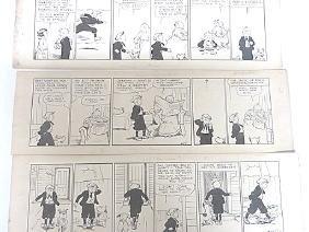 Edwina Dumm.  Pen & Ink. Orig.l Cartoon Strips.  Sgd.