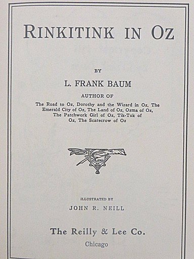 L. Frank Baum. Rinkitink in Oz. First Edition. Illus. - 5