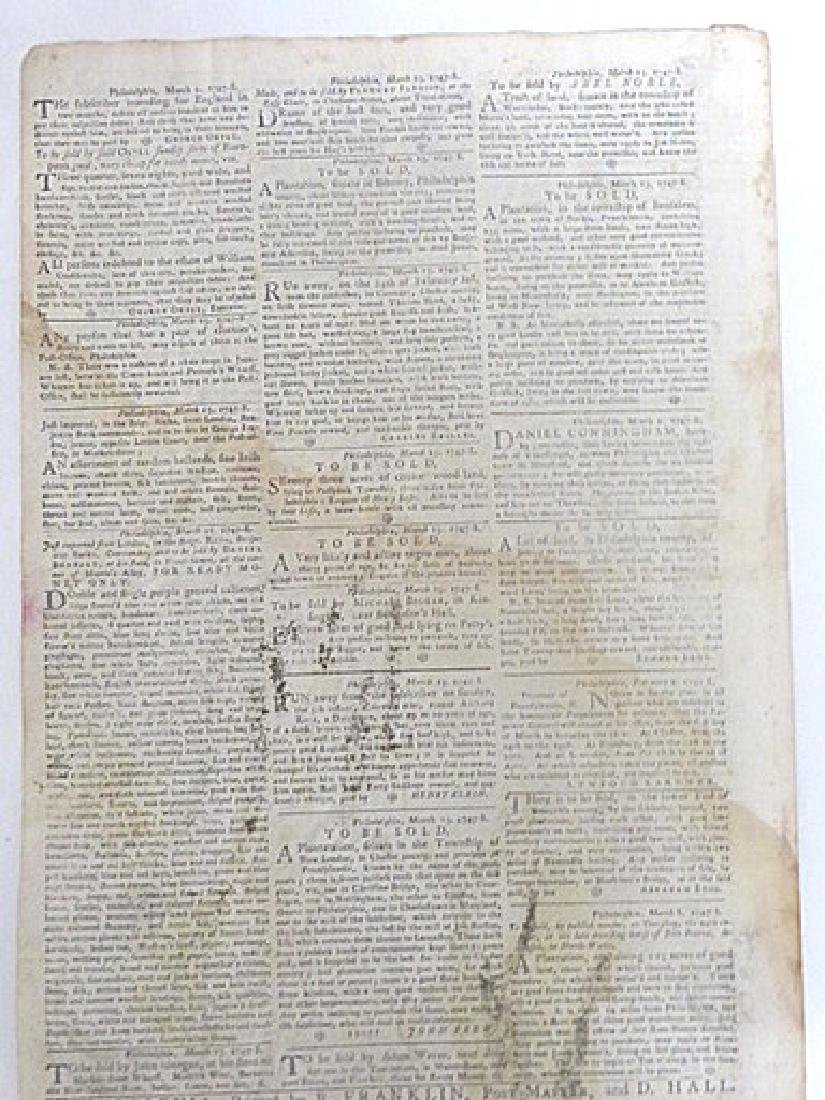 Pennsylvania Gazette  Newspaper. 1747-1776 (4) - 2