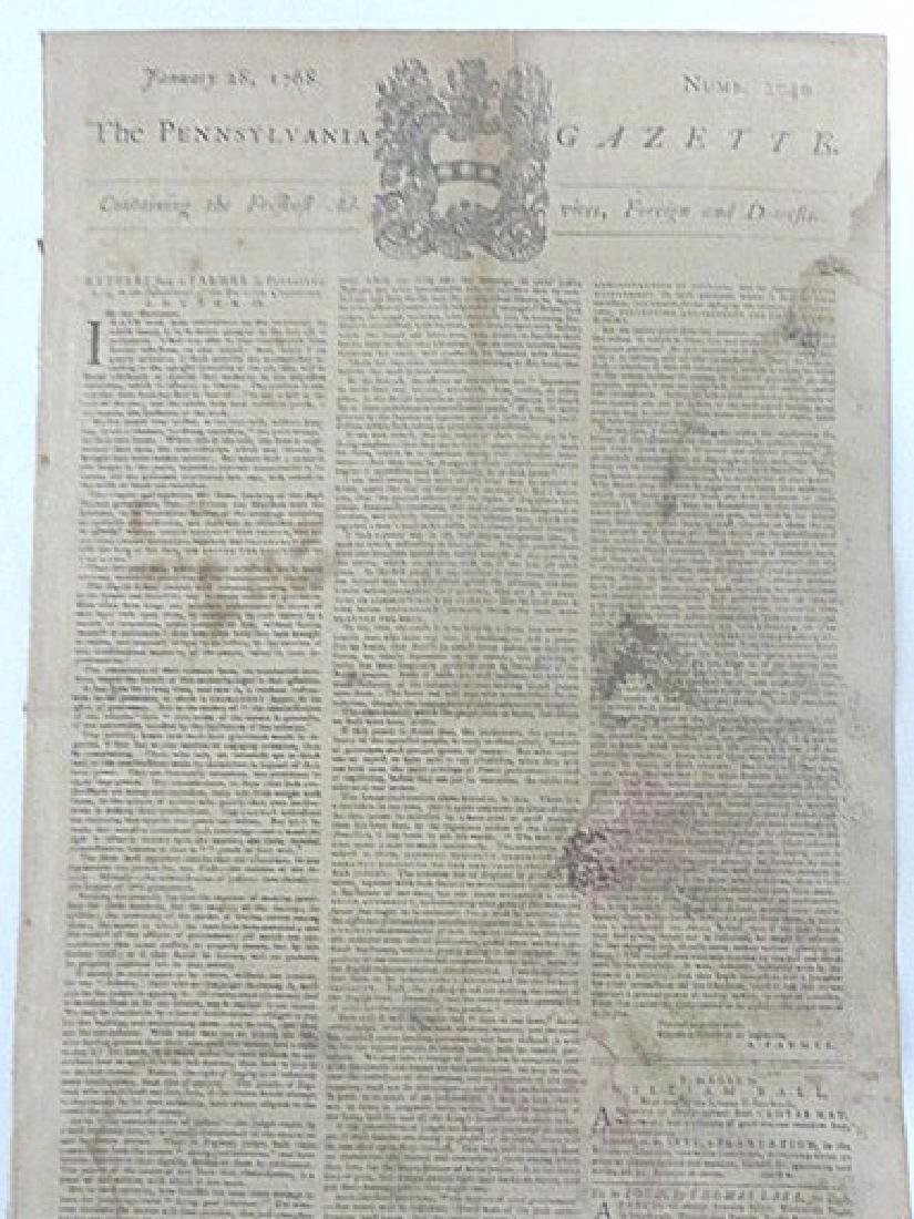 Pennsylvania Gazette  Newspaper. 1747-1776 (4) - 3