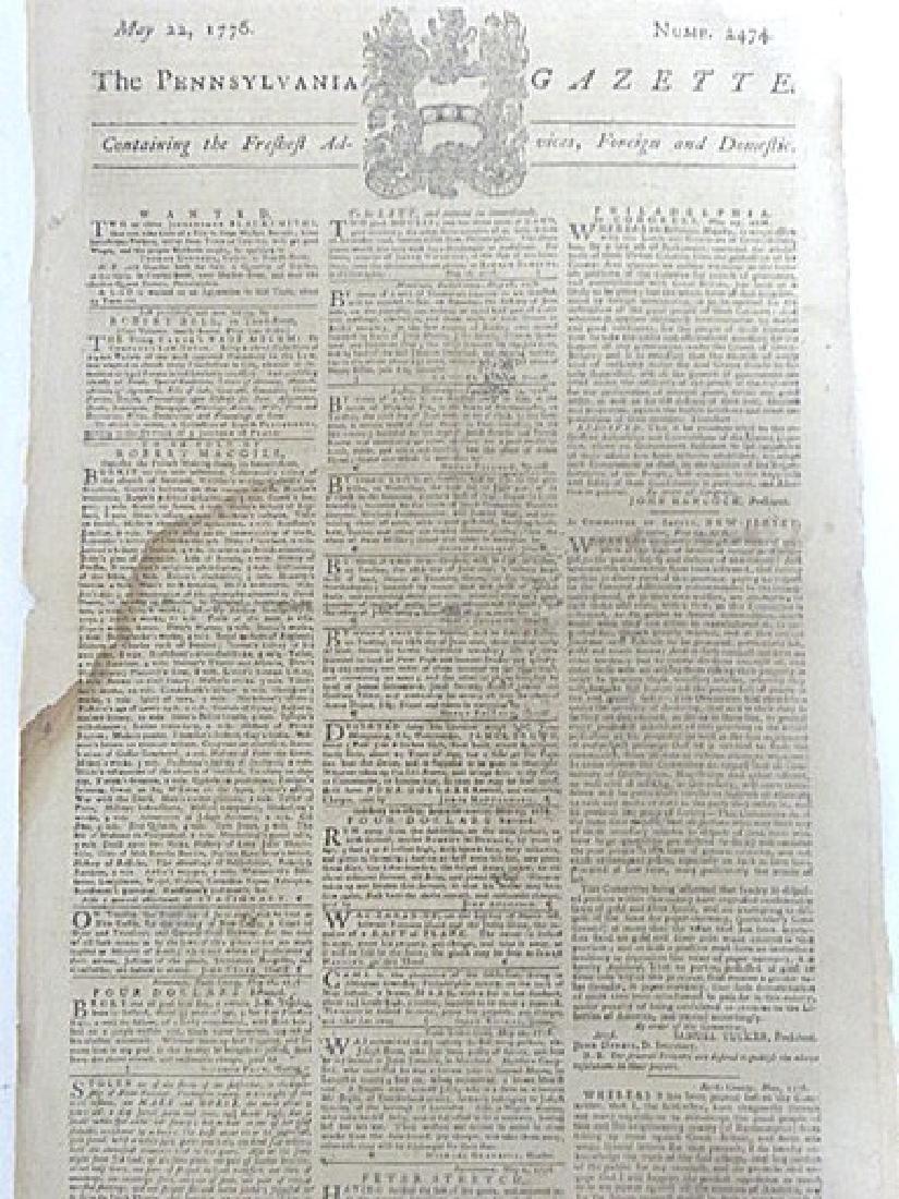 Pennsylvania Gazette  Newspaper. 1747-1776 (4) - 4