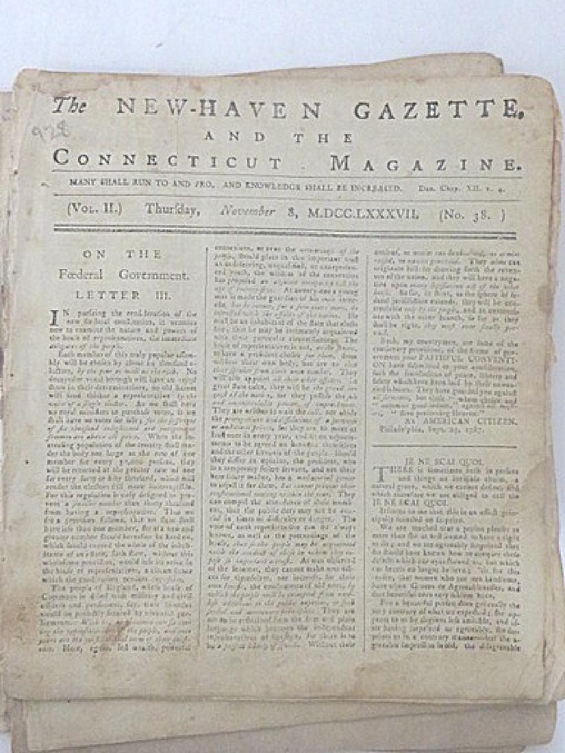 New Haven Gazette, & the Connecticut Magazine (7)