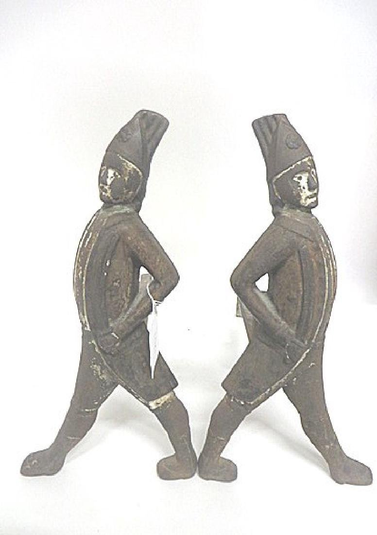 19thC. Hessian Cast Iron Andirons