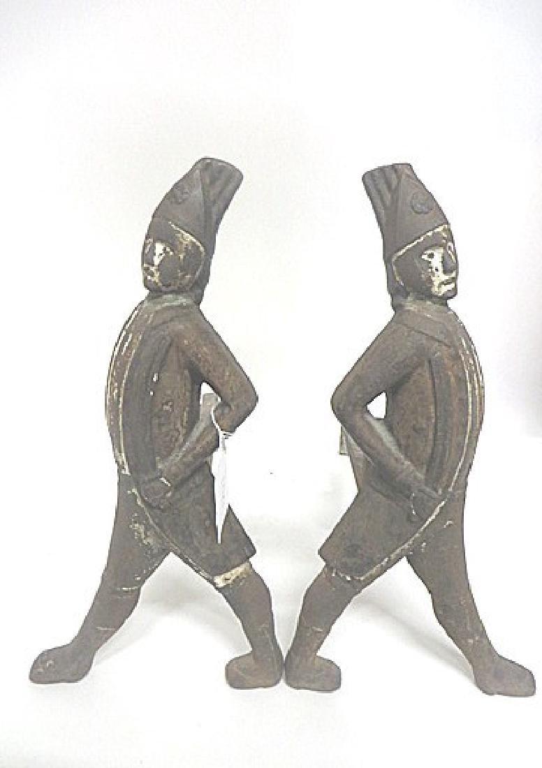 19thC. Hessian Cast Iron Andirons