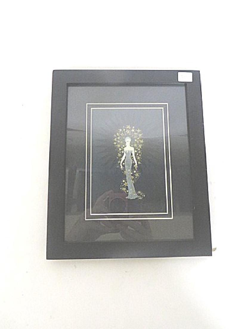 Erte Print of a Woman in a Glitter Dress - 3