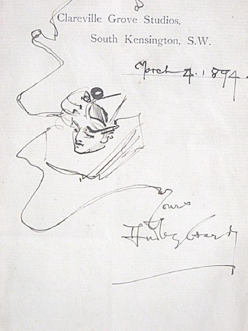 Hutley (Indisnerible) Perhaps Stark.  Signed Drawing.