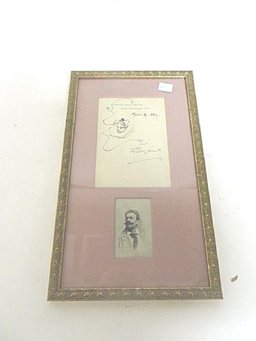 Hutley (Indisnerible) Perhaps Stark.  Signed Drawing. - 3